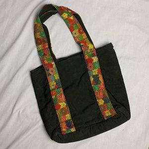 Original Good Black Cotton Shoulder Bag